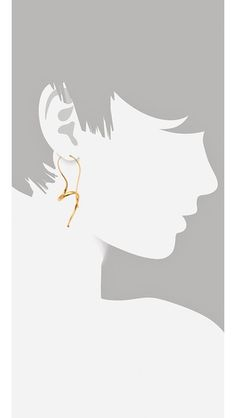 TOM BINNS Classic Small Gold Curly Earrings