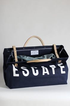 Shoptiques Product: The Escape Bag Hand Luggage Bag, Luggage Bags, My Bags, Purses And Bags, Painted Canvas Bags, Inside My Bag, Painted Fox Home, Canvas Weekender Bag, Vintage Canvas