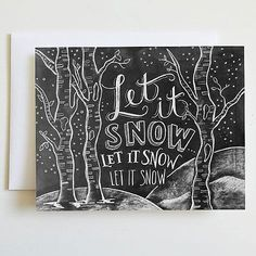 Holiday cards pretty enough to frame | would look cute reproduced on a chalkboard