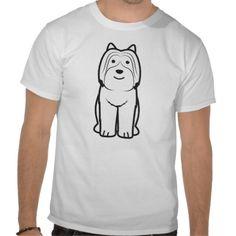 Pyrenean Shepherd Dog Cartoon T-shirts