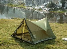 Super fast and easy set up! Great for hiking, camping, or adding to your survival bag, this compact tent will fit into your backpack without filling it up. Great one-person and gear tent or two-person tent without gear. Hiking Tent, Ultralight Backpacking, Camping And Hiking, Backpacking Food, Backpacking Checklist, Winter Camping, Diy Camping, Tent Camping, Camping Hacks