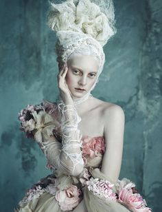 Opulenze a la Marie Antoinette - Dolce & Gabbana Alta Moda by Daniele Duella and Iango Henzi for Vogue Germany 2014