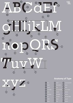 Type Anatomy (Rockwell) by William Cundall, via Behance