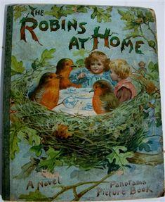Ernest Nister - The Robins At Home pop-up book Louis Wain Cats, English Artists, Vintage Children's Books, Robins, Book Illustration, Cat Art, Pop Up, Childrens Books, Illustrators