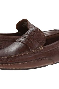 Rockport Oaklawn Park Penny (Brown) Men's Slip on  Shoes - Rockport, Oaklawn Park Penny, M76502-200, Footwear Closed Slip on Casual, Slip on Casual, Closed Footwear, Footwear, Shoes, Gift, - Street Fashion And Style Ideas