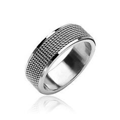 Fifth Avenue - Finely Crafted Piece Of Work Stainless Steel Comfort-Fit Ring. #BuyBlueSteel #MensWeddingRings