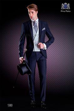 Veste de costume de marié bleu Ottavio Nuccio Gala