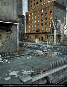 Here's another urban grunge background. Actually a bit more than grunge - pretty well destroyed! Earthquake, end of the world, terrorist bombing, zombie apocalypse. Your cal...