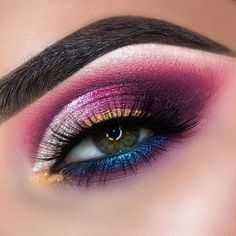 Stunning eye makeup for green eyes