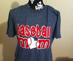 Custom baseball mom shirt w name/number . $30.00, via Etsy.