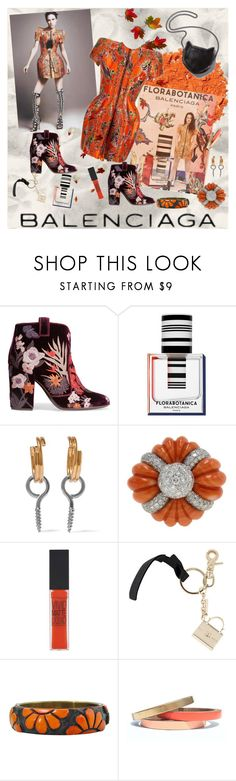 """Florabotanica:  Balenciaga"" by bklou ❤ liked on Polyvore featuring Illamasqua, Balenciaga, Laurence Dacade, STELLA McCARTNEY, Maybelline and Voz Collective"