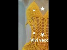 MAIÔ BODY SHORTS DE CROCHÊ -PARTE 4 (shorts) - YouTube Crochet Monokini, Crochet Bikini, Crochet Clothes, Crochet Dresses, Crochet Videos, Free Pattern, Crafty, Youtube, Knitting