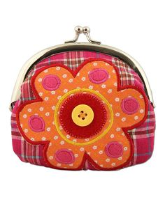 Another great find on #zulily! Flower Signature Coin Purse by Stephen Joseph #zulilyfinds