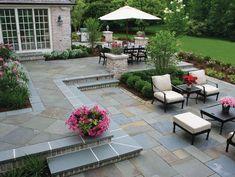 Round Patio Landscaping patio layout home plans.Patio Layout Home Plans. Stone Patio Designs, Backyard Patio Designs, Backyard Landscaping, Patio Ideas, Patio Stone, Stone Patios, Landscaping Ideas, Pavers Ideas, Bluestone Pavers
