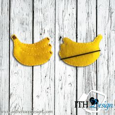 Free banana bobby pin cover embroidery design