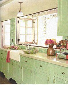 farmhouse green cabinets - Google Search