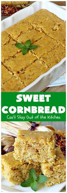 Sweet Corn Muffins – Can't Stay Out of the Kitchen Southern Cornbread Recipe, Sweet Potato Cornbread, Buttermilk Cornbread, Homemade Cornbread, Cornbread Recipes, B Recipe, Butter Recipe, Recipe Using Honey, Glass Baking Dish