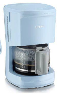 "Cafetera ""START"", azul celeste-gris 9725 aprox. 1000 W para aprox. 10 tazas soporte del filtro giratorio extraíble 1x4 con válvula anti-goteo placa de mantenimiento en caliente botón de encendido/apagado con luz piloto jarra de cristal con marcas de nivel de agua espacio para guardar el cable embalaje de 3 unidades. EAN 4008146016653"