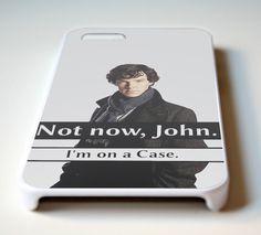 Not Now John I'm on A Case Sherlock for iPhone iPhone iPhone and iPhone 6 - hasidela on We Heart It. Sherlock Phone Case, Sherlock Fandom, Sherlock Holmes, Sherlock Cumberbatch, Benedict Cumberbatch, Johnlock, Martin Freeman, Superwholock, Iphone Cases