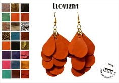 very light leather earrings! by amelie