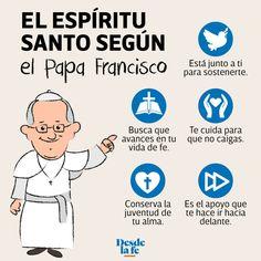 ¿Cuáles son los 7 dones del Espíritu Santo? El Papa nos explica Catholic Religion, Papa Francisco, Illustrations, My Passion, Photography Tutorials, Good Vibes, Gods Love, Prayers, Family Guy