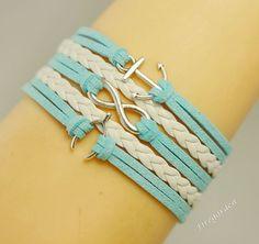 Charm Bracelet   Infinity Wish Bracelet  Wish bone by Firegarden, $5.99