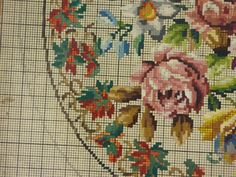 Antique Vintage Berlin Woolwork Chart Hand Painted Tapestry Embroidery Wool S   eBay