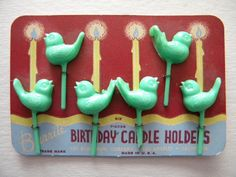 Vintage Burrite Bird Candle Holders for by SongbirdSalvation, $20.00