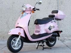 Pink Retro 49cc Scooter