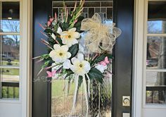 Southern Belle Spring Wreath with Magnolias and by ATwistDivine