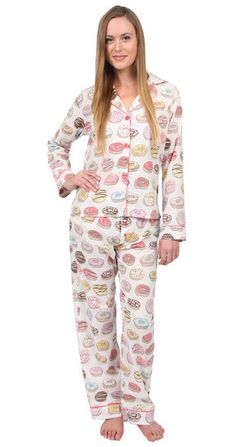 PJ Salvage Donut Cotton PJ Set in Natural at www.shopblueeyedgirl.com ugh need this!! :D