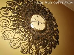 Toilet Paper Roll Clock