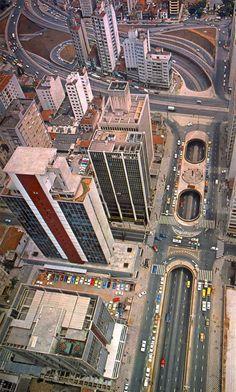 Paulista Avenue in 1983 - Sao Paulo, Brazil