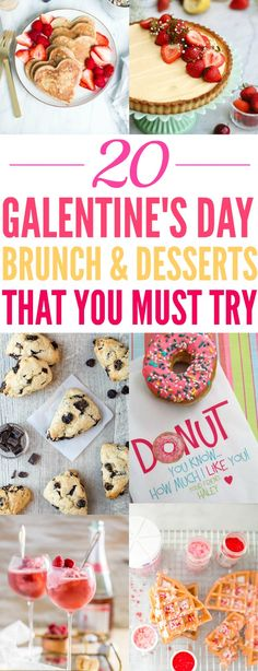20 Adorable Galentine's Day Treats That'll Make Your Party An Instant Success - XO, Katie Rosario Brunch Recipes, Sweet Recipes, Dessert Recipes, Desserts, Brunch Ideas, Cheap Recipes, Mimosa Brunch, Mimosa Bar, Cocktails For Parties