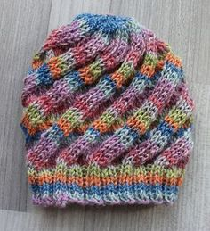 This is an easy to knit hat, worked with soft fingering weight yarn that is quick to knit up and stretchy enough for longer wear in growing children. Soft yarn and close fit makes this great for chemo hats.