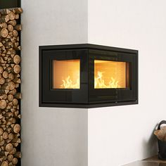 Rais 500-2 Wood Burning Corner Cassette Stove