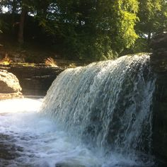 Waterfall in the Yorkshire Dales. Waterfalls In Yorkshire, Yorkshire Dales, Niagara Falls, Lakes, Wander, United Kingdom, Affirmations, Scenery, Board