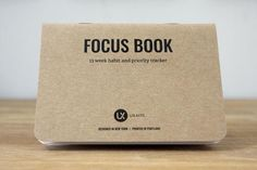 Focus Book - Get stuff done: 13 week habit and priority tracking notebook Getting Things Done, Priorities, Work On Yourself, Notebook, Product Launch, Place Card Holders, Tools, Get Stuff Done, Exercise Book
