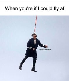 Haha if I could fly... I would go there with Harry.