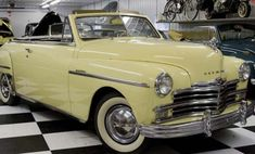 1949 Plymouth Convertible Plymouth, Convertible, Antique Cars, Classic Cars, Antiques, Vehicles, Chrysler Usa, War, Vintage Cars
