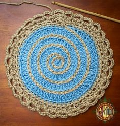 Aplique circular en crochet