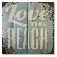 Gizaun Art Love The Beach Indoor/Outdoor Wall Art - WLTB1420