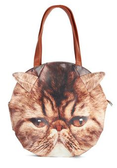 That bag I'd wear while feeling like a CATastrophe. Just puuurfect. Could use one right meow. Don't kit around with me, unless you want a licken'.