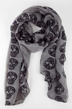 Skull Scarf http://www.bossnotin.com/Apparel-Accessories/Street-Accessories/Skull-Print-Scarf