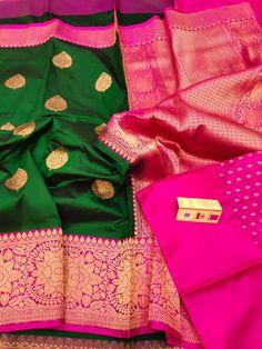 Maroon Saree, Banarasi Sarees, Marriage, Pure Products, Antique, Silk, Green, Stuff To Buy, Dresses