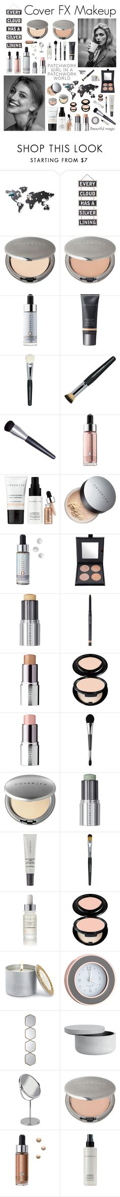 """""""Cover FX"""" by shangalairina ❤ liked on Polyvore featuring beauty, Anja, Umbra, Silver Lining, Cover FX, Marigold Artisans, Addison Ross and Uttermost"""