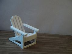 Miniature Adirondack chair in white  for dollhouse by dinapoli, $10.00