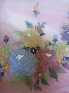 My shadow embroidery saree