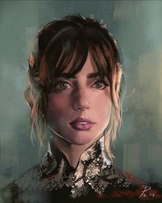 ArtStation portrait of Ana de Armas as Joi in Blade Runner 2049 Girls Characters, Female Characters, Cyberpunk Aesthetic, Dark Drawings, Blade Runner 2049, Female Character Inspiration, Portrait Illustration, Photography Projects, Cultura Pop