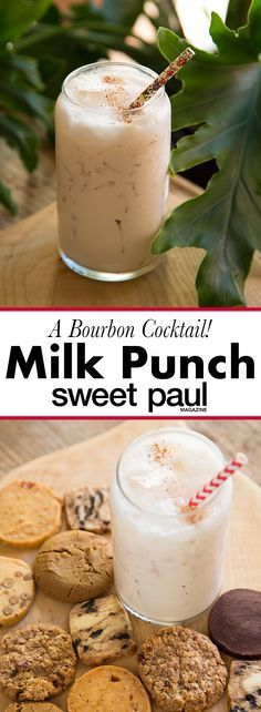 A creamy nutmeg and vanilla punch with bourbon that's a perfect way to indulge in the holiday season!
